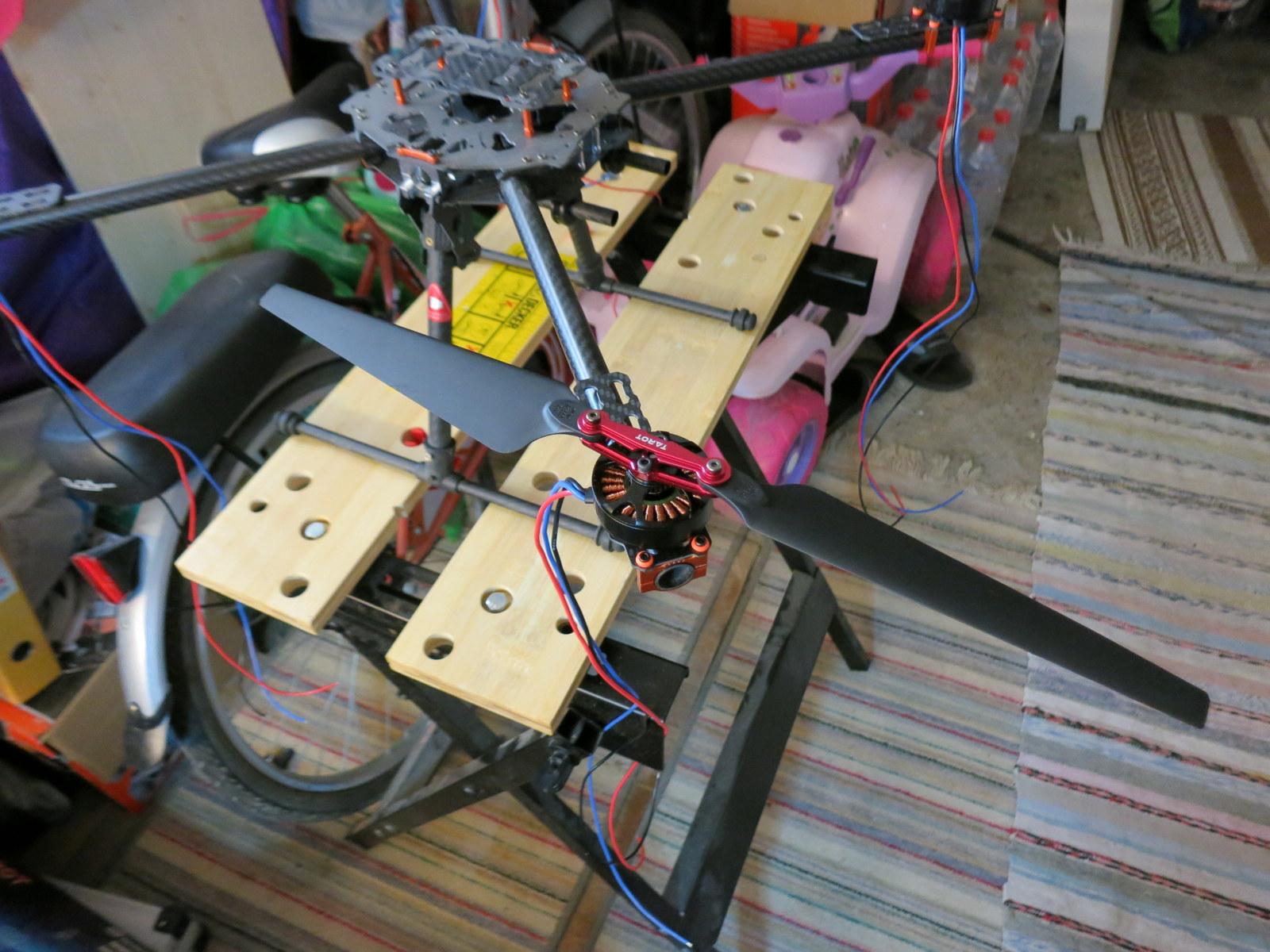 Tarot 1555 props - 4108 sunnysky motors - Tarot 650 frame ⋆ V@SS@M