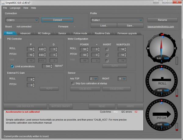 Goodluckbuy gimbal simplebgc settings for mobius