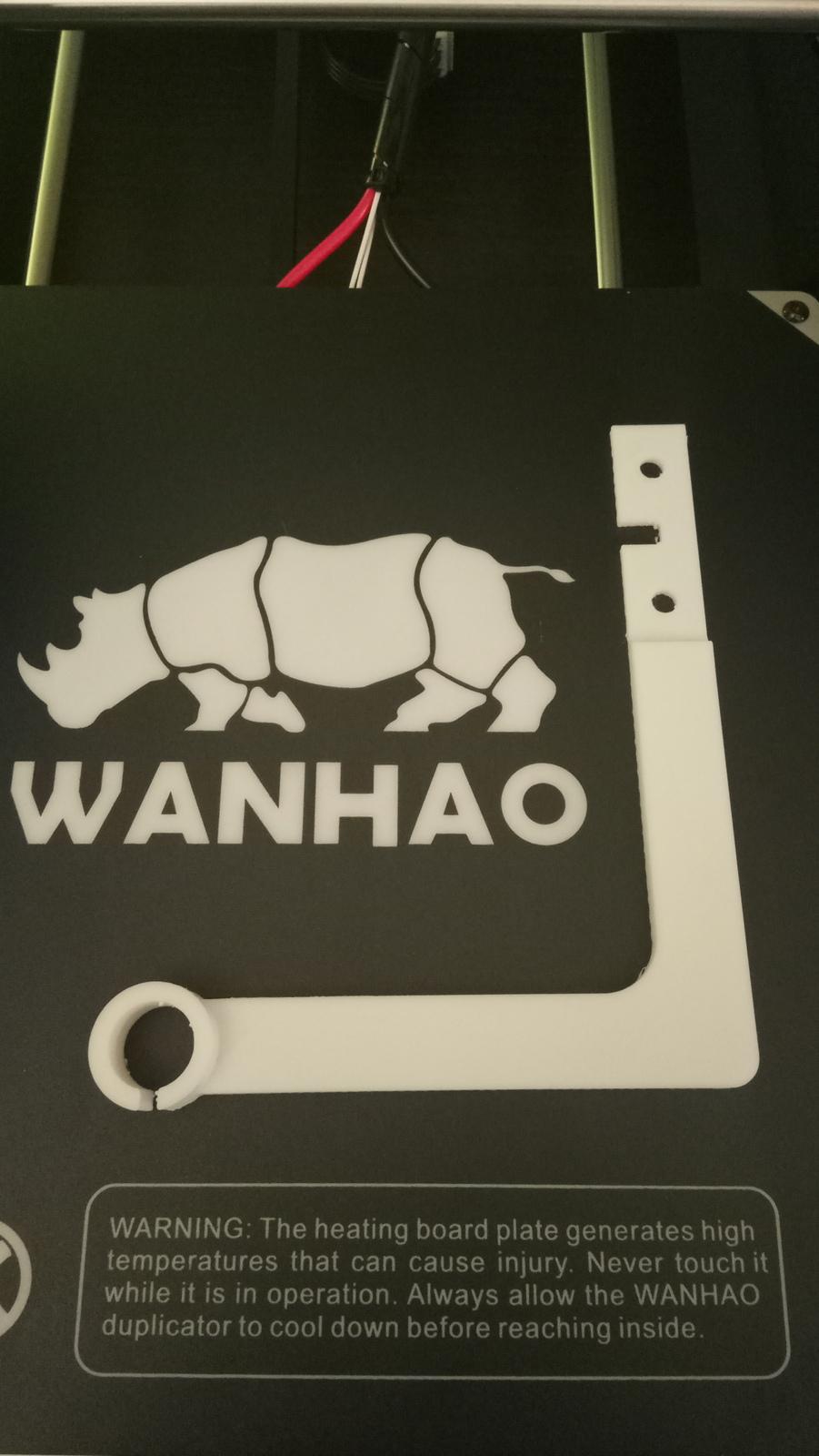 Wanhao 3d 2.1 Print filament guide